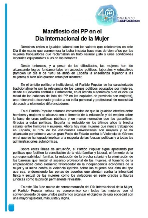 manifiesto pp dia de la mujer 2018