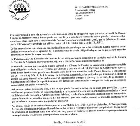Advertencia Camara de Cuentas 2017